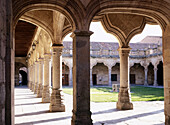 Courtyard of Minor School, Salamanca. Castilla-León, Spain