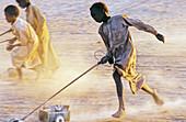 People of the Teda ethnic group. Zouar Oasis. Tibesti Massif. Sahara Desert. Chad