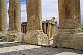 Bacchus Temple. Roman ruins. Baalbek archaeological site. Beqaa Valley. Lebanon.