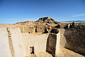Old Ottoman fort. Old city at Ghat Oasis. Medina. Adrar Akakus region. Sahara desert. Libya. Africa.