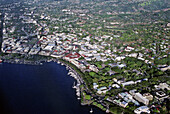 Papeete city. air sight. Tahiti Island. the Society Islands. French Polynesia. Pacific.