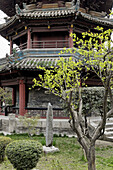 The great mosque. The muslim district. Xi an city. Shaanxi province. China.