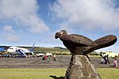 Airport. Hanga Roa. Easter Island. Chile.