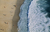 Nazaré, a stunning beach, typical fishermen houses and steep cliffs over a bright blue sea have made this fishing town become a popular holiday resort, mainly due to its traditional character. Center region. Portugal