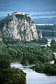 Devin Castle, flood in the point where the River Morava flows into the Danube, near Bratislava. August 2002. Slovakia