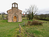 San Esteban de Aramil romanesque church. 12th Century. Siero. Asturias. Spain