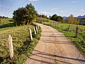 Country road, Lieres, Siero, Asturias, Spain