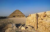 Step Pyramid of Sakkara. Cairo. Egypt