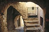 Lane in Sant Antonino. Balagne region. Corsica Island. France