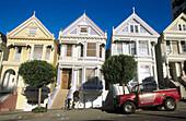 Victorian Houses in Alamo Square. San Francisco. California, USA