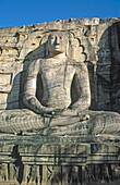 Giant Bouddha. Kalu Gal Vihara. Polonnaruva, Sri Lanka.