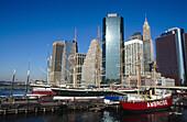 South Street Seaport Museum. Manhattan, East River, New York City. USA