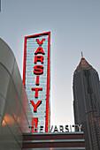 Atlanta s Varsity at Georgia Tech on I75 I85 with Nation s Bank Building on right