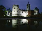 Krasiczyn, famous renaissance palace from the XVI-XVII century in southeastern Poland