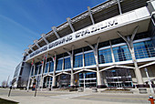 Downtown Cleveland Ohio sightseeing landmarks and tourist attractions Cleveland Browns Football Stadium
