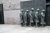 The Breadline, sculpture by George Segal. Franklin D. Roosevelt Memorial. Washington D.C. USA