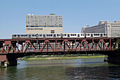 Chicago Transit Autority provides subway transportation throughout the city. Chicago, Illinois. USA.