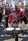 Palm Harbor University High School Marching Band particaptes in a parade at the Florida State Fair at Tampa
