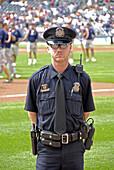 Police keep control at a Detroit Tiger Professional Baseball game at Comerica Park Detroit Michigan