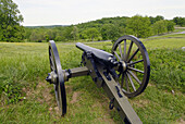 Canons on the battlefield at the Gettysburg National Battlefield and Cemetary Pennsylvania PA