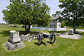 Site of Bigelows Desperate Stand at Gen Sickles headquarters Battlefield at the Gettysburg National Battlefield Park and Cemetary Pennsylvania PA