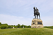 Memorial to Union Commander in Chief Major General George Meade on the Battlefield at the Gettysburg National Battlefield Park and Cemetary Pennsylvania PA