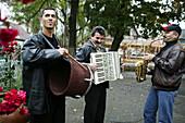 Musicians on the street, Transylvania, Romania
