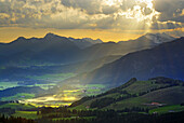 Scenery with Chiemgau Alps near Koessen, Tyrol, Austria