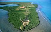 Aerial photo of Cape Don in Garig Gunak Barlu National Park on the Coburg Peninsula in Arnhem Land, Australia