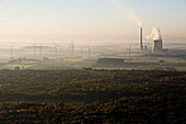 aerial of coal power station, near Mehrum, Lower Saxony, northern Germany