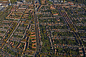 aerial view of housing Hanover, Lower Saxony, northern Germany