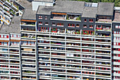 aerial view of Ihme Zentrum flats, Linden, Hanover, Lower Saxony, northern Germany