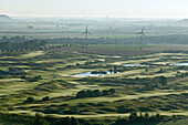 Aerial shot of golf course, Hanover, Lower Saxony, Germany