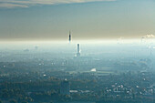 Smog over Hanover, Lower Saxony, Germany