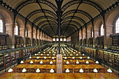Lecture hall of Sainte Genevieve Library, Quartier Latin, 5th Arrondissement, Paris, France, Europe