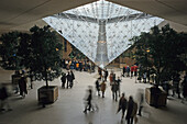 The inverted pyramid, Pyramide Inversée, Louvre Museum with IM Pei's Pyramide, 1e Arrondissement, Paris, France