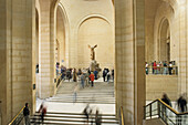 Winged victory of Samothrace, marble sculpture of a Greek Goddess, Louvre Museum, Paris, France