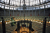 Lighting in the glass roof of the French National Assembly, French Government, Palais Bourbon, 7th Arrondissement, Ile de France, Paris, France