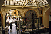 View of Galerie Vivienne, Empire style glass roof, built in 1826, 1. Arrondissement, Paris, France, Europe