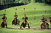south pacific  Fiji Vitu Levu traditional village dance performance