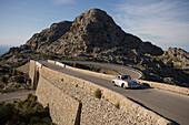 1963 Porsche 356 C on Bowtie Curve of Sa Calobra Mountain Road, Rally Classico Isla Mallorca, near Cala de Sa Calobra, Mallorca, Balearic Islands, Spain