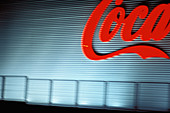 Closed, Coca Cola, Coca-Cola, Color, Colour, Comunidad Valenciana, Concept, Concepts, Detail, Details, Economy, Europe, Exterior, Factories, Factory, Horizontal, Industrial, Industry, Iron gate, Iron gates, Night, Nighttime, Nobody, Outdoor, Outdoors, Out