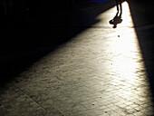 Allein, Alleine, Aussen, Außen, Boden, Böden, Eine Person, Eins, Erwachsene, Erwachsener, Farbe, Geheimnis, Geheimnisvoll, Horizontal, Intrige, Intrigen, Machenschaften, Mensch, Menschen, Namenlos, Schatten, Silhouette, Silhouetten, Stille, Streng geheim,
