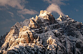 Sextener Dolomiten, view from Monte Agudo, near Auronzo. South Tyrol. Italy.