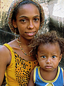 Mother and baby girl. Sao Luis. Brazil.