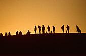 Silhouettes. Erg Chebbi. Morocco.