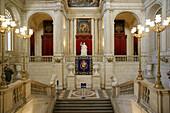 Halls stairs by Felipe Sabatini at the Royal Palace. Madrid. Spain