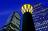 World Financial Center at night. New York City, USA