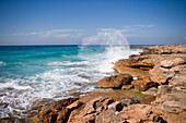Crashing Wave, Cap de Ses Salines, Mallorca, Balearic Islands, Spain