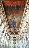 Spectacular ceiling fresco in the Hall of Mirrors (Salon de los Espejos) in Museum of the Revolution (Museo de la Revolucion). Havana, Cuba